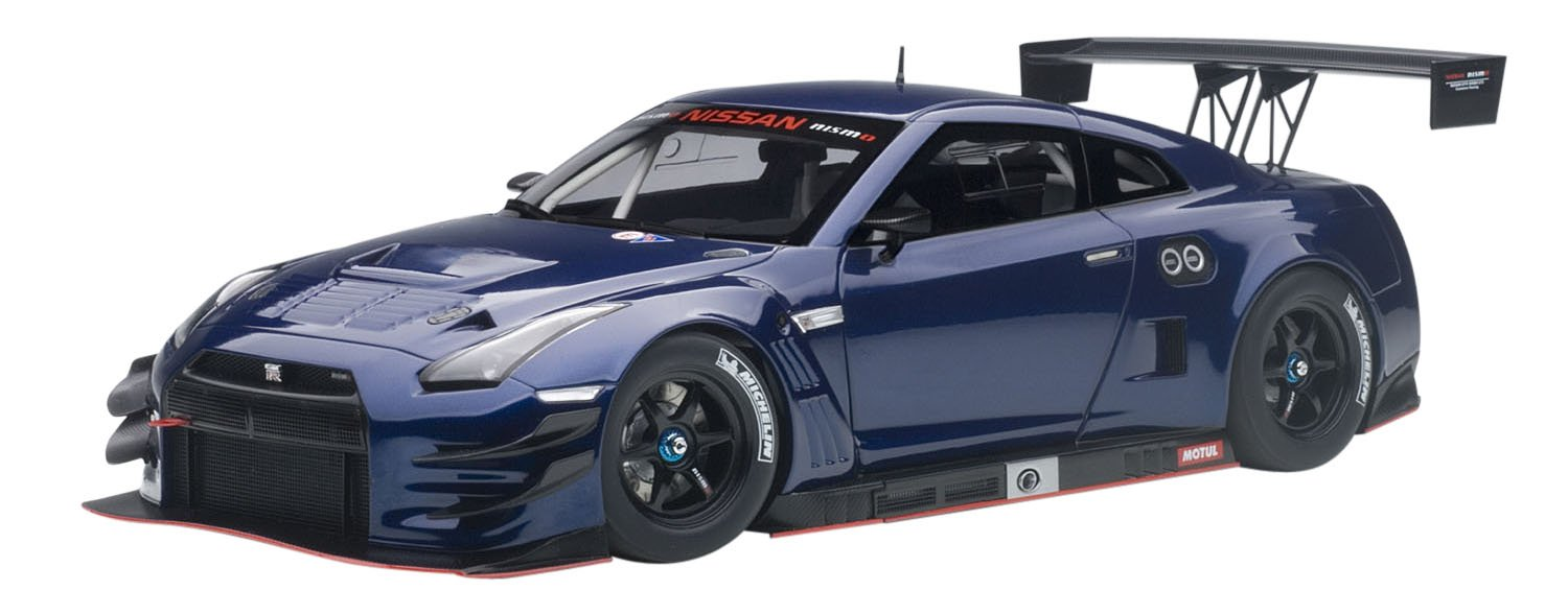 AUTOart 1/18 Nissan GT-R NISMO GT3 Aurora Flare Blue Pearl Finished Product