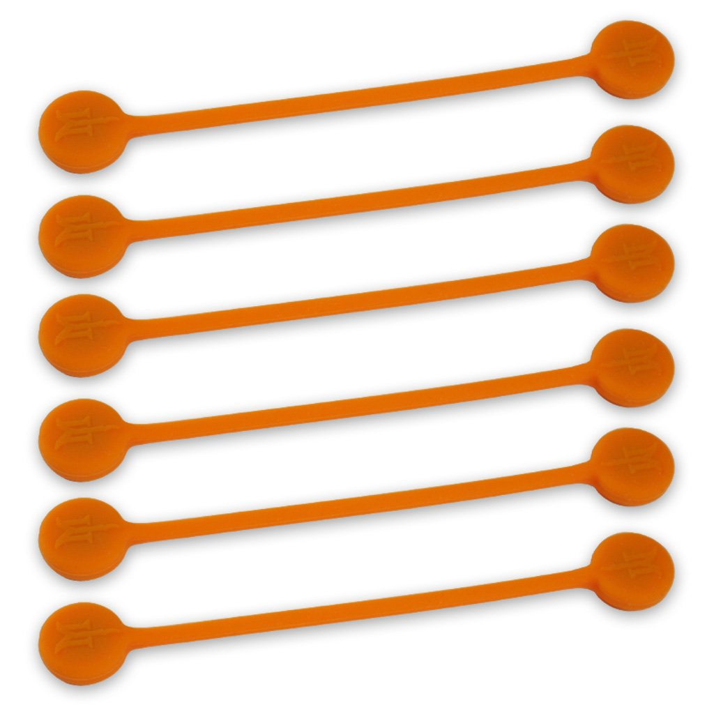 TwistieMag Strong Magnetic Twist Ties - The Sun Kissed Collection - Orange 6 Pack - Super Powerful Unique Solution For Cable Management, Hanging & Holding Stuff, Fidget Toy, Or Just For Fun!