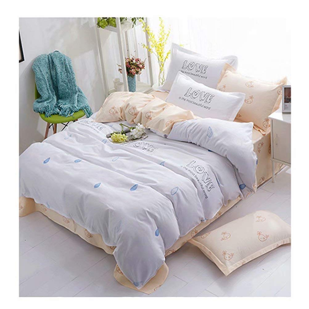 DECORATE Flat Sheet, Bedding Set, Fitted Sheet-Plant Cashmere-Includes Comforter,Cool & Breathable-Ins Style,Simple Life
