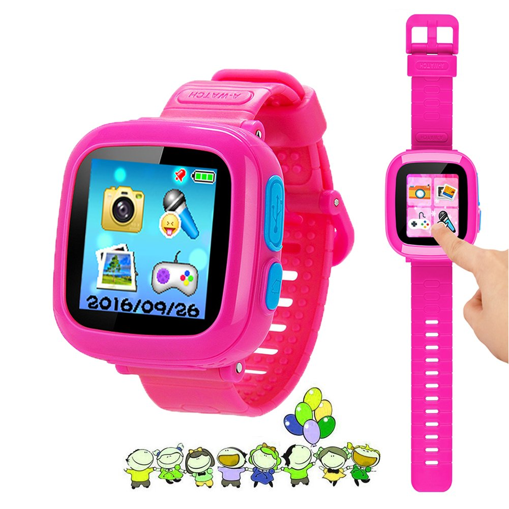 "Kids Game Watch Smart Watch For Kids Children's Birthday Gift With 1.5 "" Touch Screen And 10 Games, Children's Watch Pedometer Clock Smart Watch Kids Toys Boys Girls gift.(Pink)"