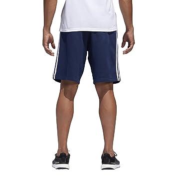 adidas Herren Leichtathletik Essential Baumwoll Shorts, Herren, Collegiate  Navy-White, X- 9c9f934259