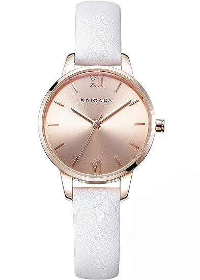 aa9f91ed1d615 BRIGADA Swiss Brand Ladies Dress Quartz Wrist Watches for Women Girls Nice  Fashion Rose Gold Women's