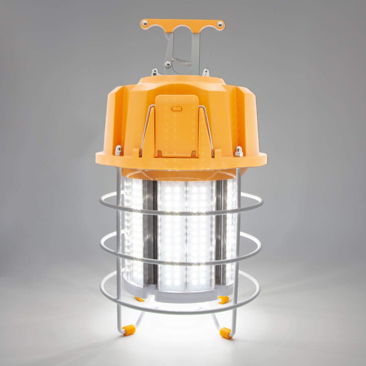 Maxxima High Bay LED Temporary Work Light Linkable Metal Cage 40W 5000 Lumens