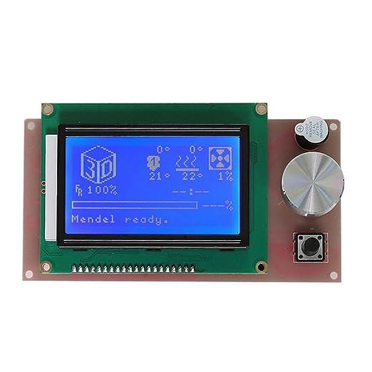 UEETEK LCD 12864 Módulo inteligente de pantalla de visualización ...