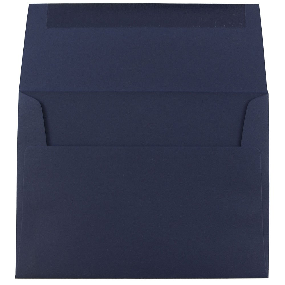 JAM PAPER Buste per Inviti ad Alta Qualit/à Blu Scuro 50//Pacchetto 92,1 x 130,2 mm