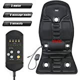 yosager 5-Motor Back Massager Vibration Massage Seat Cushion with Heat for Back Hips and Thighs at Car Home Office, 8 Massage Modes, 3 Intensity