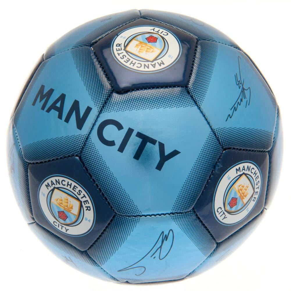 Manchester City FC Blue Football Signature [Importación inglesa ...