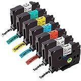 7X Replace Brother Ptouch Tze 231 Tz 131 12mm Label Tape, TZe-131 TZe-231 TZe-431 Labeling Tape, Compatible Brother P-Touch PT-P700 PT-1000 PT-1010 PT-H101C GL-H105 PT-H110 Label Makers