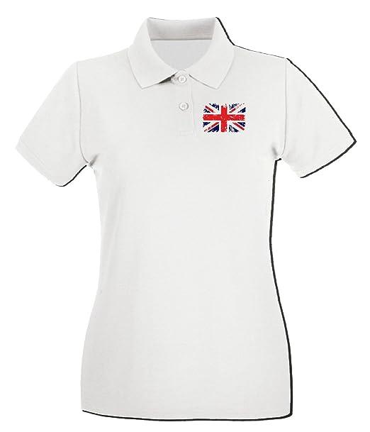 T-Shirtshock - Polo para Mujer TSTEM0012 British Flag Punk Grunge ...