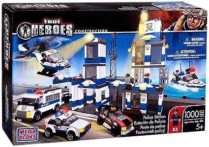 Amazon True Heroes Mega Bloks Set Police Station Toys Games