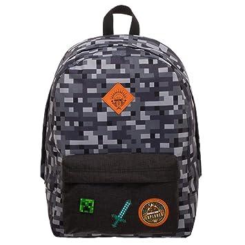 Minecraft Bedrock Backpack: Amazon co uk: Luggage