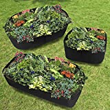 Asdomo Planter Raised Beds, Raised Garden Bed Elevated Planter Kit Grow Flower Vegetables for a Deck, Patio or Yard Gardening 606040cm Thick 1mm