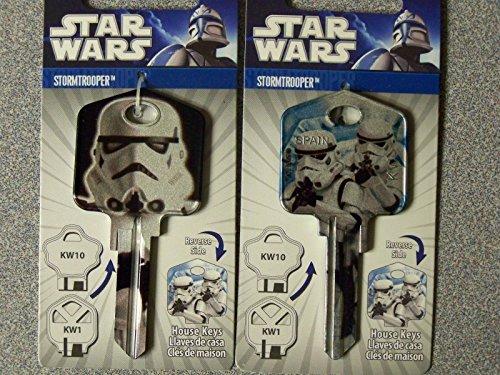 Star Wars StormTrooper Kwikset KW1/KW10 house Key Blank (Kwikset Key Blank)