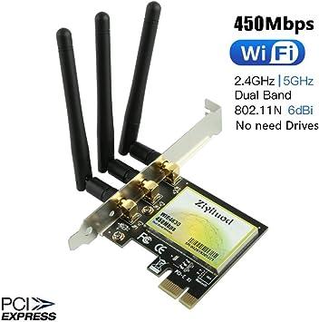 Amazon.com: Ziyituod - Adaptador inalámbrico de 450 Mbps ...