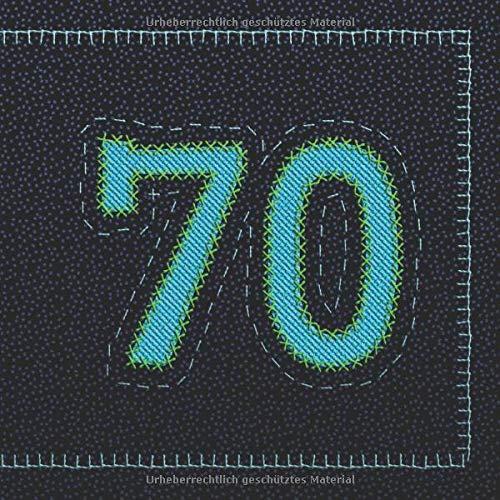 Siebzig 70 Geburtstag Gästebuch I 120 Weiße Leere Seiten
