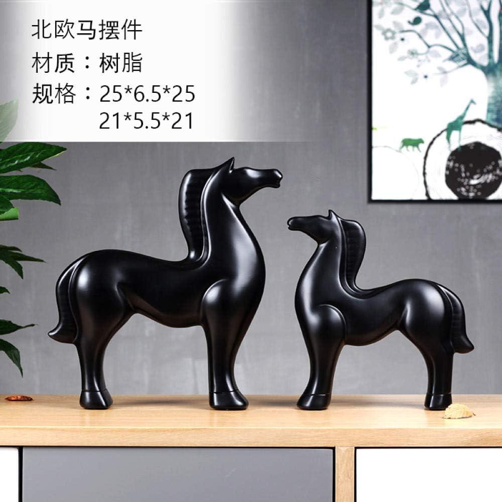 QAZWSX Origami g/éom/étrique cr/éatif Abstrait Cheval Blanc Ornements Salon d/écorations pour la Maison Sculpture Animale mod/èle mobilier@Cheval g/éom/étrique