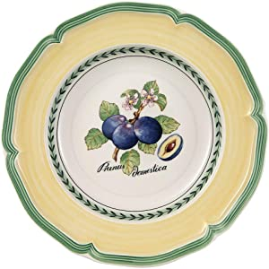 Villeroy & Boch French Garden Valence Rim Soup : Plum, 9 in, White/Multicolored