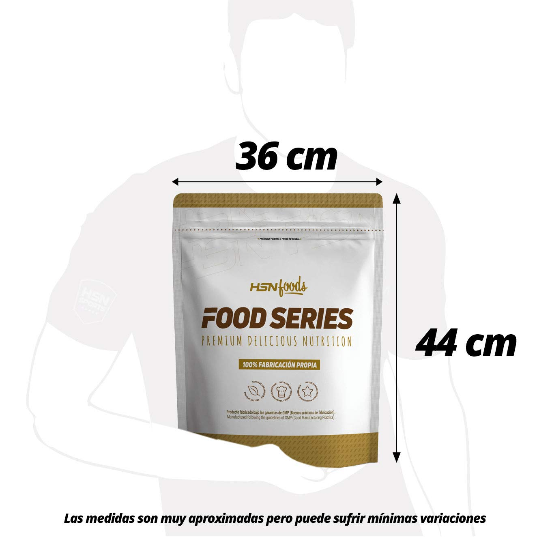 Harina de Avena de Sabor de HSN Foods - Sin soja, Vegana - Instantánea Ideal para Batidos, Tortitas de Avena y Claras, Recetas Fitness - En Polvo - Sabor ...