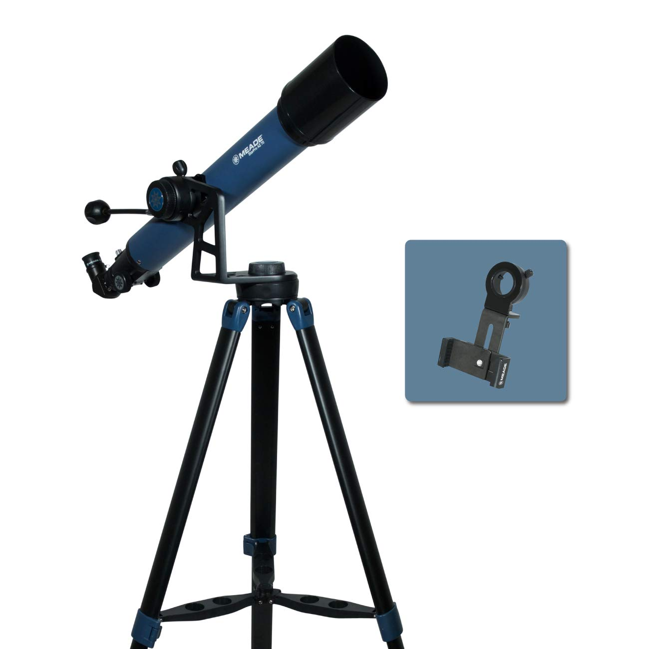 Meade Instruments 234001 Star Pro AZ 70mm Refracting Telescope and Smart Phone Adapter by MEADE