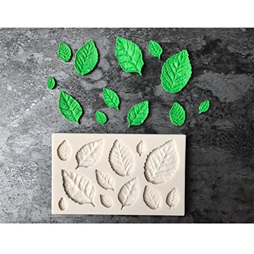 (GUAngqi Leaf Shape Cake Mold Silicone Baking Tools for Kitchen)