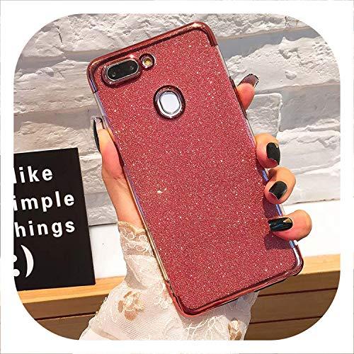 Rose Rhs - Glitter Bling Phone Cases for Huawei 2019 Plating Soft TPU Case,Rose,Hooner RHS .45inch