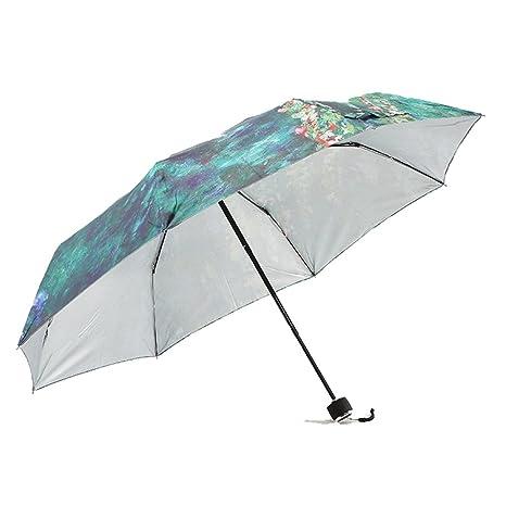 adecuado para hombres/mujeres más vendido diseños atractivos AFCITY Mujer Hombre Paraguas Viaje Paraguas Verde de la ...