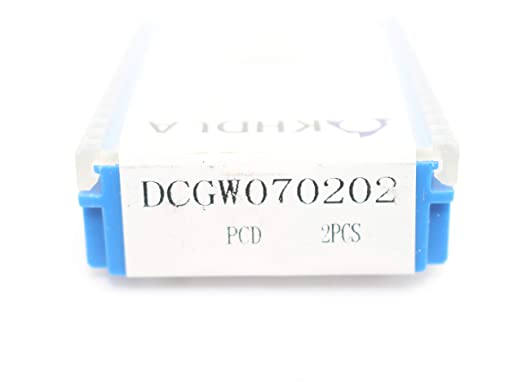 High-precision 2pcs NEW PCD DCGW070202 PCD Diamond CNC blade insert