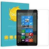 NuVision 8 Inch Tablet Tempered Glass Screen Protector - Fintie [Scratch Resistant] Premium HD Clear [9H Hardness] for 2016 NuVision TM800W560L/ 2017 NuVision TM800P610L/ Solo 8 TM800W630L / TM800W610