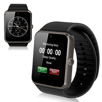 Theoutlettablet® GT08 Reloj inteligente Smart Watch Bluetooth para Teléfono con tarjeta SIM y ranuara para memoria microsd color NEGRO: Amazon.es: ...