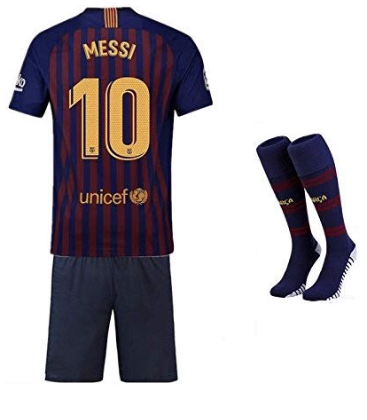 new product 43b12 65434 Replica Barcelona 2018/19 Newest Kids kit - MESSI