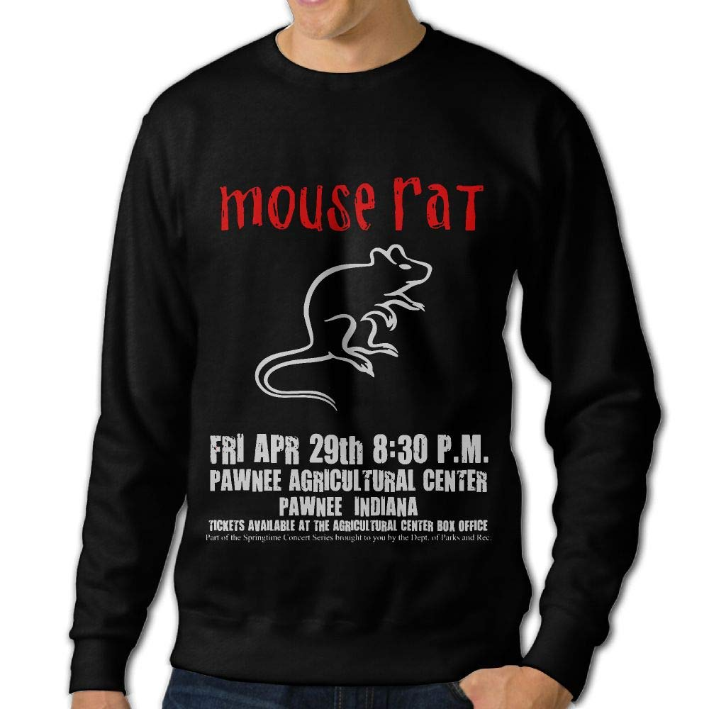 LLiYing-D Parks and Recreation Mouse Rat Circle Adult Mens Fashion Long Sleeve Sweater T Shirts