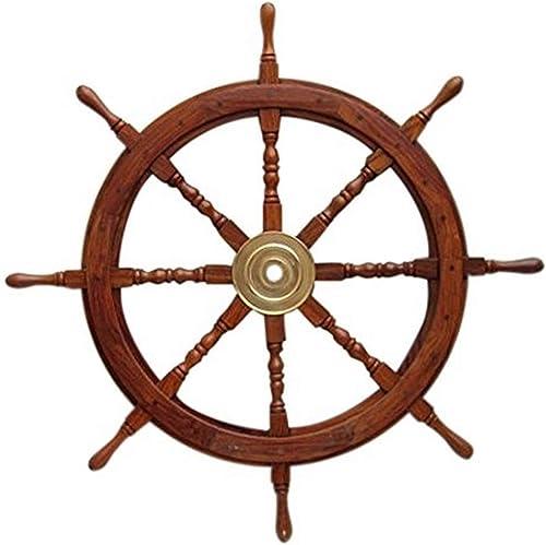 Benzara Wooden Ship Wheel