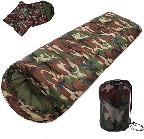 HUFEIX Saco de Dormir de algodón para Acampar Sacos de Dormir de ...