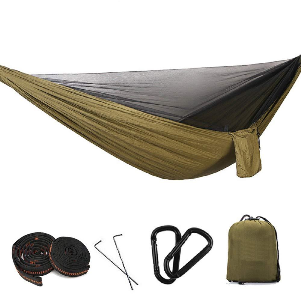 Brass 3m11bague2 YLOVOW Hamac Simple de Camping, Courroies de Filet et d'arbre, hamac léger en Nylon de Parachute pour la randonnée en Plein air