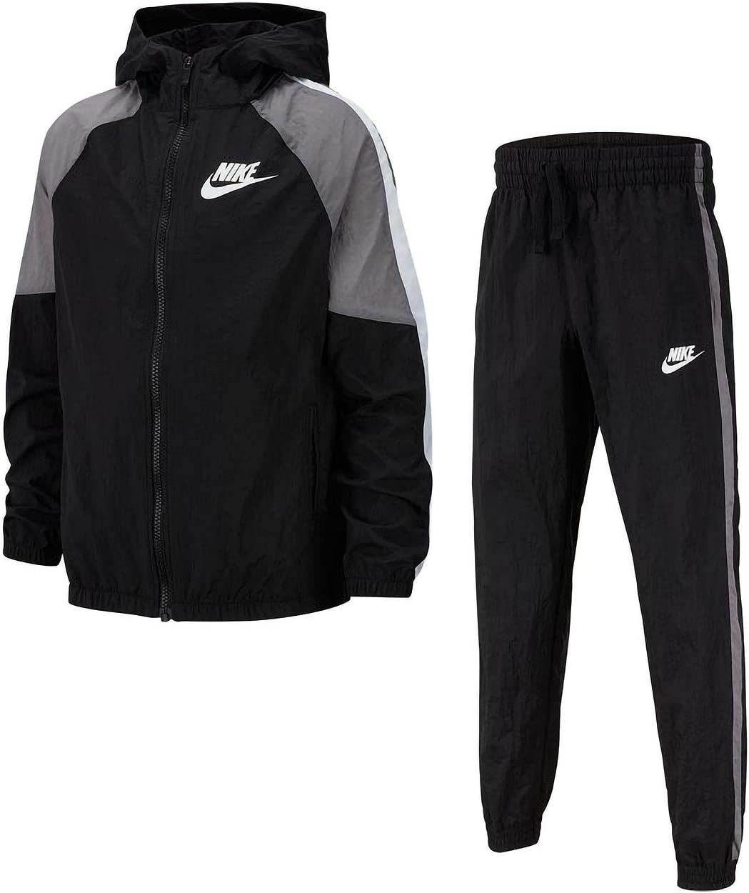 Nike Sportswear Chándal, Niños, Black/Gunsmoke/White/White, M ...