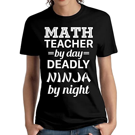 Amazon.com: Wxf Womens Math Teacher Deadly Ninja Particular ...