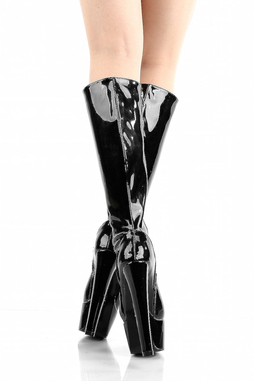 Giaro Stiefel in Shiny Übergrößen Schwarz Destroyer 1003 schwarz Shiny in große Damenschuhe b6a8e3