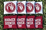 Oklahoma Sooners Boomer Sooner Replacement Cornhole Bag Set (corn filled)