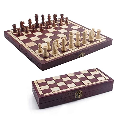 Love lamp Tablero de ajedrez de Madera Set portátiles de Mesa ...