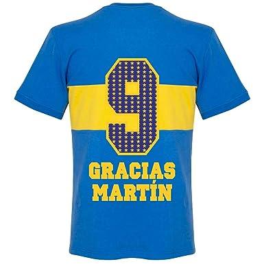 finest selection d970d e8a68 1960's Boca Juniors Retro Trikot + Gracias Martin 9 (Special ...