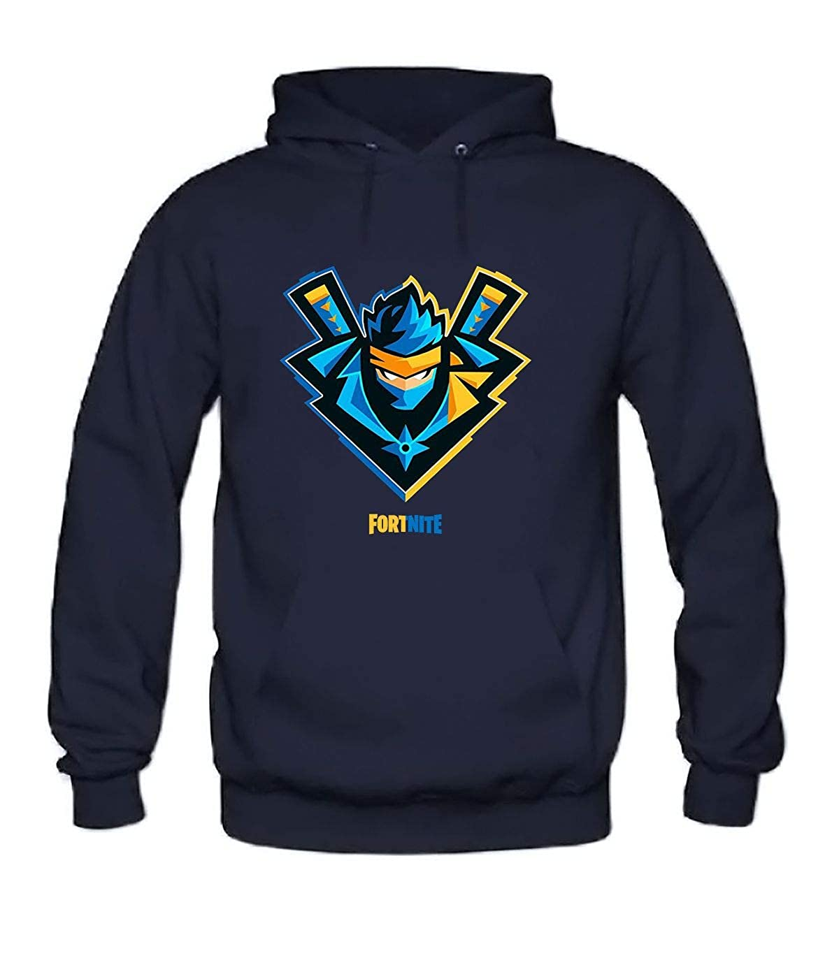 Amazon.com: Fortnite Ninja Mens Hoodie darkBlue XL: Clothing
