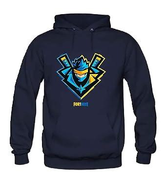 Amazon.com: Fortnite Ninja Mens Hoodie darkBlue XL: Clothing