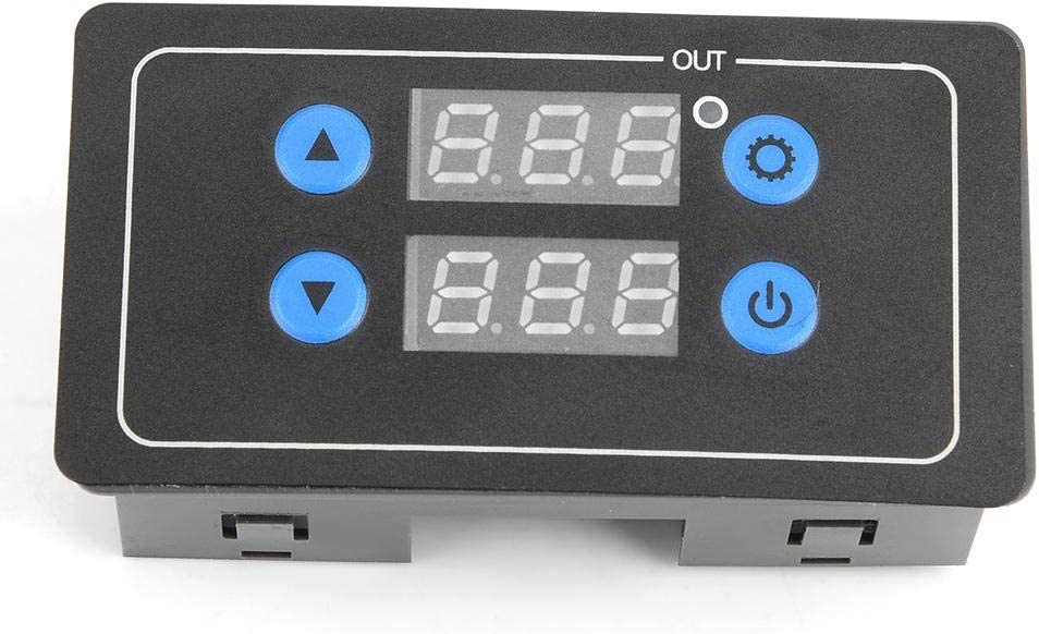 Timing Verz/ögerungsrelais Modul Zyklus Timer Digital LED Doppelanzeige 0.1 Sekunden bis 999 Stunden AC//DC 5A Zeitschaltuhr Einstellbares Zeitrelais