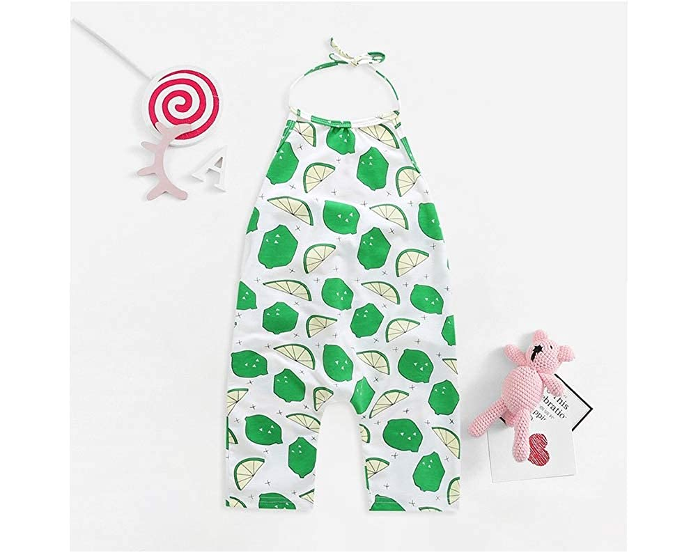 Mama Loves Toddler Girls Rompers and Jumpsuits Girls Summer Backless Overalls Outfits for Toddler Girls