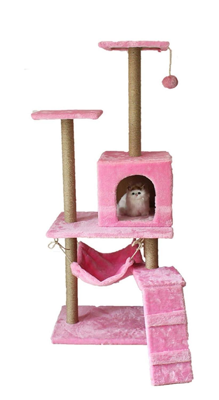 猫木マンション家具マルチレベルデラックスとロープ子猫活動タワーペットキティプレイハウス引っ掻きポストとまり木ハンモック B07NYWTDM1 B07NYWTDM1 Pink Pink Pink Pink, 玖珠郡:6c10bad5 --- ijpba.info