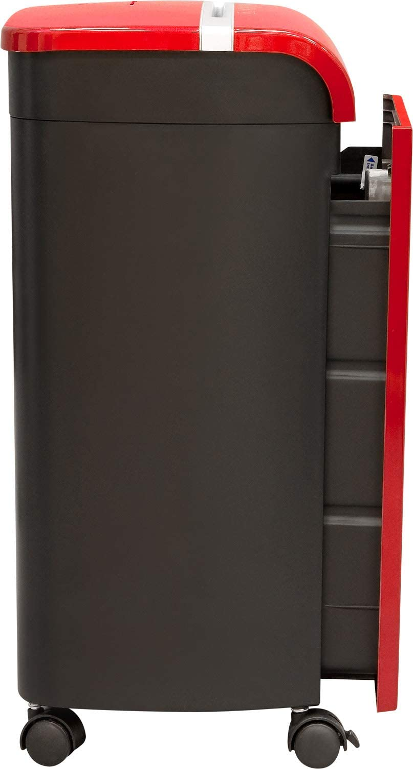 GoECOlife GMW124P-Red Limited Edition 12-Sheet High Security Microcut Paper Shredder Red