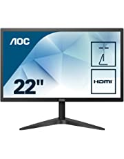 "AOC 22B1H – Monitor de 21,5"" con Pantalla Full HD (TN, 5ms, VGA, HDMI, Fino, Flicker Free y Low Blue Light)"