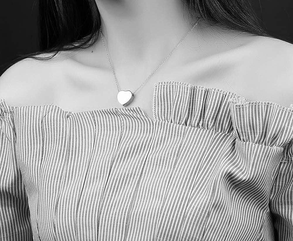 Mixiueuro Parure de bijoux en acier inoxydable avec pendentif en forme de c/œur boucles doreilles et bracelet /à breloques Style minimaliste Sans nickel