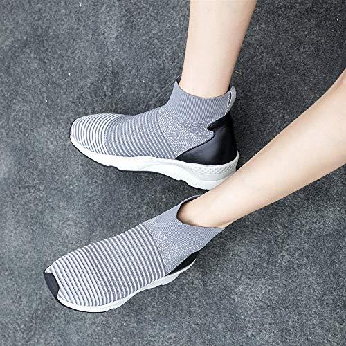 Fashion Scarpe 155 AnMengXinLing Ginnastica F77 da Grey Donna LUSHANGMEI vqw4CwYR