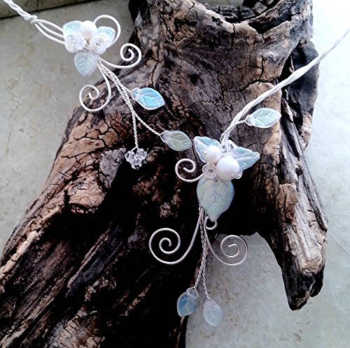 White Aurora Frost Elven Torc Necklace
